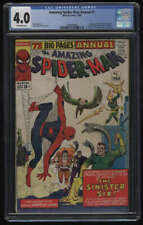 Amazing Spider-Man Annual #1 CGC 4.0 OW Pgs 1st Appearance Sinister Six 1964