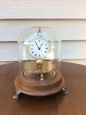 Vintage Briggs Rotary Flying Ball Clock, w/ Glass Dome, Running