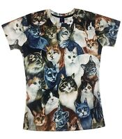 Cats All Over T-Shirt (funny cute cats animal lover t shirt) v2