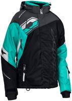 Castle X Womens Code.Black/Mint/Charcoal Jacket Size Medium-2XL  Snowmobile Coat
