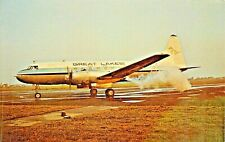 GREAT LAKES AIRLINES CONVAIR 440   1975  Airplane Postcard