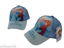 Berretto Frozen Elsa e Anna Originale Disney Azzurro Cappello Cappellino 54 cm