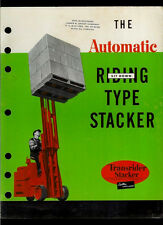 Super Duper Rare Automatic Transrider Stacker Forklift Electric Truck Brochure