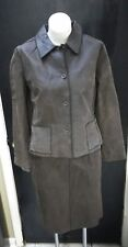 Jackie Blue Brown Mahogany Leather Distressed two piece Jacket M Skirt Size 8