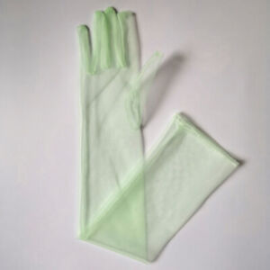 """21"""" 27"""" Long Sheer Tulle Evening Party Wedding Gloves Costume Opera Bridal Prom"""