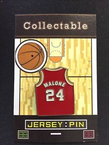 Houston Rockets Moses Malone jersey lapel pin-Classic throwback Collectable