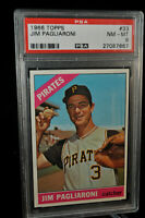 1966 Topps - #33 - Jim Pagliaroni - PSA 8 - NM-MT