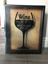 "Top Loading Wine Corks Shadow Box            11.02""H x 13.98""W x 2""D"