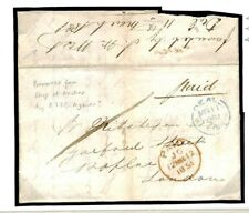 "H183a QUARANTINED EICo SHIP MOORED ""DOWNS"" Per Deal Forwarding Agent 1851 Cover"