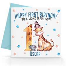 Personalised Boys First 1st Birthday Card Son Grandson Nephew Brother Godson