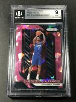 SHAI GILGEOUS ALEXANDER 2018 PANINI PRIZM PINK ICE REFRACTOR ROOKIE RC BGS 9 (D)