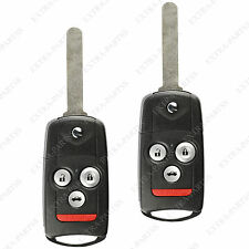 2 New Replacement Entry Remote Key Car Fob Flip Key For Acura TL TSX MLBHLIK-1T