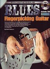PROGRESSIVE BLUES FINGERPICKING GUITAR Book & CD