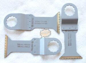 3 tlg Bi Metall Sägeblatt Set  Titanium für Fein Supercut Festool Vecturo Würth
