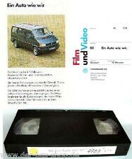 VW Bus T4 - VHS Video - Ein Auto wie wir - 1990
