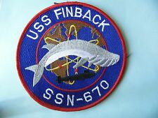 INSIGNE PATCH US NAVY USS FINBACK SSN-670 / SOUS-MARIN SUBMARINE U-BOOT U-BOAT