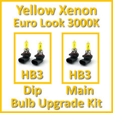 Warm White 3000K Yellow Xenon Headlight Bulb Set Main Dip Fog HB3 HB3 Kit