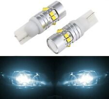 LED Light 50W 194 White 6000K Two Bulbs Front Side Marker Parking Upgrade Lamp
