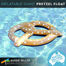 Inflatable Giant Pretzel Water Float Bread Stick Float Pool Toy