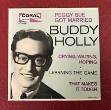 "BUDDY HOLLY Peggy Sue Got Married 1962 7"" 45 EP Coral EC 81191"