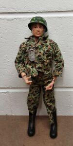 """Vintage 12"""" 1964 1970's GI Joe Talking Soldier Action Figure Blonde Flocked Hair"""