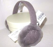 Ugg New Wired Earmuffs Compatible To Audio Devices Grey Sheepskin Wool In Box