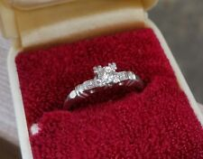 $3500 white Platinum gold 950 vintage European cut Diamond Engagement ring Ruth