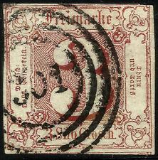 THURN UND TAXIS, 3 SILBERGROSCHEN, 1861, MICHEL # 17, RING CANCELLATION # 301
