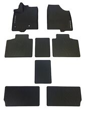 2013-2018 SIENNA FLOOR MATS RUBBER ALL WEATHER MATS TOYOTA OEM NEW 8PC SET BLACK