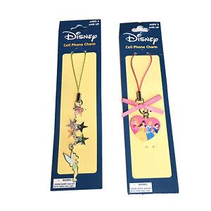 Disney Tinker Bell And Princess Phone Charms Belle Cinderella Snow White Aurora