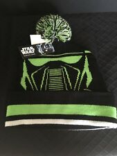 Beanie Star Wars Death Trooper Rogue One Knit Pom Black/Green/White Hat New