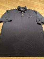 Nike Golf Mens Dri Fit Short Sleeve Navy Blue Golf Polo Shirt Size Large