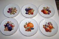 """SCHUMANN  ARZBERG   SIX  7-3/8""""  FRUIT PLATES"""