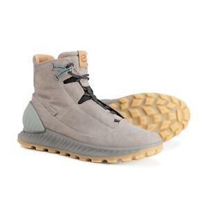 Ecco Men's Exostride Dyeema Leather Hiking Sneaker Boot Fluidform Wild Dove