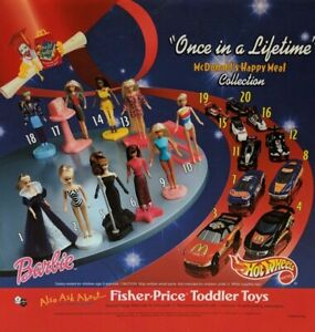 """2000 McDonalds - """"Once In a Lifetime"""" BARBIE / HOT WHEELS - *CHOICE* *MIP*"""