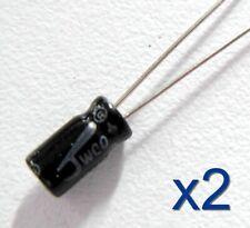 2x condensateur électrolytique 16V 47uF Radial Capacitor Aluminium 8x4mm