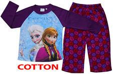 NEW SZ 3-10 KIDS WINTER PYJAMAS FROZEN GIRLS FLEECE SLEEPWEAR COTTON CHILDREN