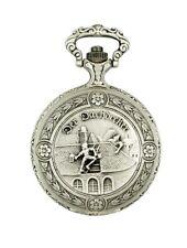 """Claude Pascal 31712 AM5 Taschenuhr Savonette, antik, Motiv """"Der Dachdecker"""", ZLN"""