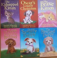 Holly Webb Animal Stories Puppy & Cat Series Collection 6 Books Set Brand New Fr