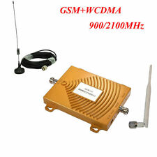 3G 900/2100MHz Dual Band GSM WCDMA Mobile Phone Signal Booster Repeater Amplif