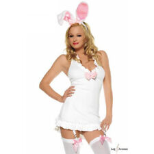 Women 2-piece Sexy WHITE BUNNY Rabbit Playboy Full Costume LEG AVENUE Small NEW