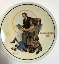 Building Our Future /Norman Rockwell Mothers Day 1991 Collector Plate