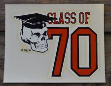 ORIGINAL VINTAGE ED ROTH DECAL CLASS OF 1970 SKULL HOT ROD VAN VW CHOPPER GASSER