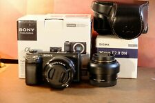 Sony Alpha NEX-6 - Two Lenses - 16-50 pz  Sigma Art 30mm - Low Shutter Count