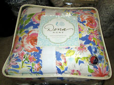 Dena Home $240 Twin Comforter Set 4Pc Country Floral pink blue green