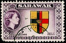 Sarawak SG202, $5 Multicolore, usato. CAT £ 23.