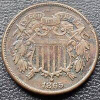 1865 Two Cent Piece 2c Higher Grade #30460