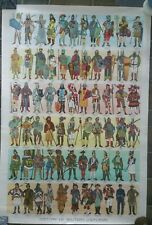 History Of Military Uniforms vintage poster 1959, 26x37 in.