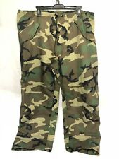 US MILITARY GORETEX TROUSERS PANTS EXTENDED COLD WET WEATHER WOODLAND CAMO MED