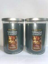 ☆☆PATCHOULI ☆☆SET OF 2 LARGE YANKEE CANDLE 2 WICK TUMBLER☆☆FREE SHIPPING